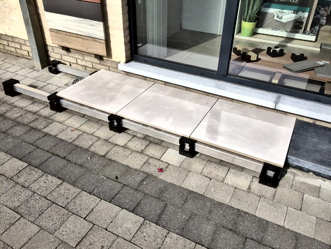 External Paving Cradle Belgium project