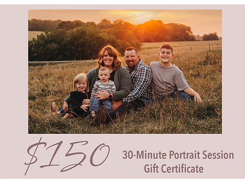 30-Minute Portrait Session Gift Certificate