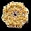 Thumbnail: Broche redondo dourado com cristais