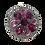 Thumbnail: Pingente prateado redondo com cristais