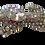 Thumbnail: Broche de pantera prateada com cristal