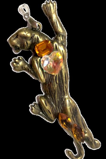 Pingente pantera com cristais