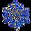 Thumbnail: Broche de ramos com cristais azuis