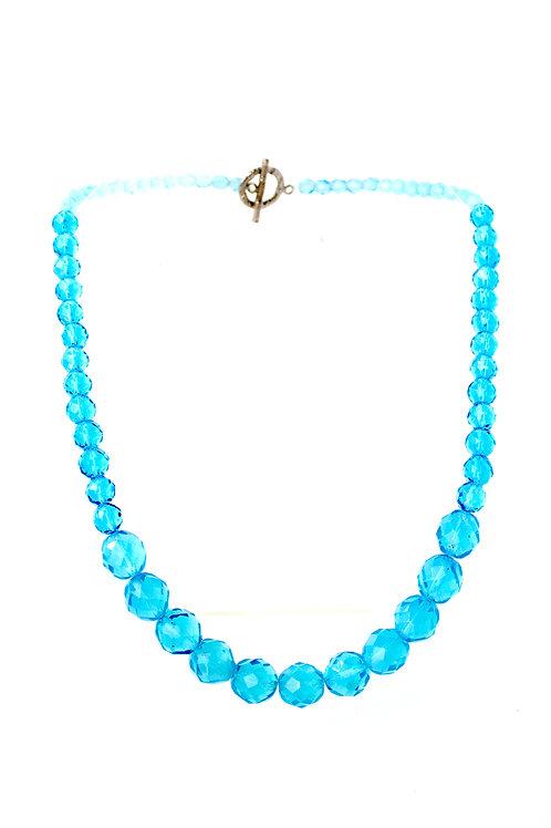 Colar de cristais azuis