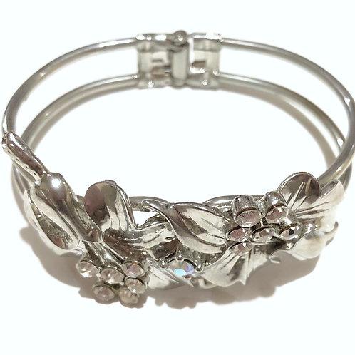 Pulseira floral prata