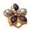 Thumbnail: Broche / passador de lenço de flor