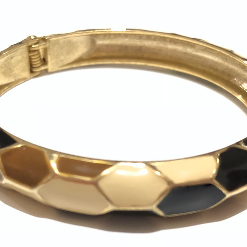 Bracelete esmaltado cobra