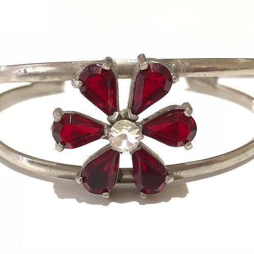 Bracelete de flor vermelha