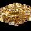 Thumbnail: Broche dourado com strass verde