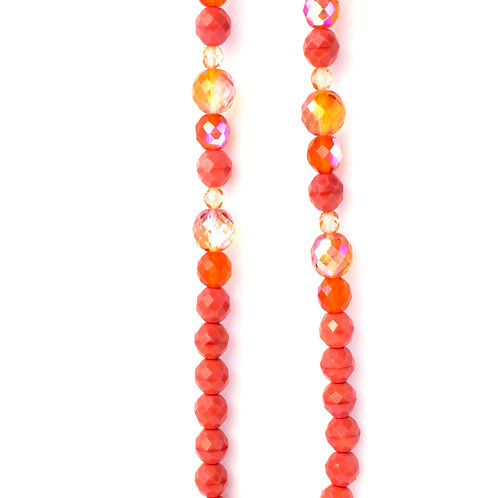 Colar de cristais laranja