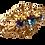 Thumbnail: Broche dourado com strass azul
