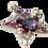 Thumbnail: Pingente prateado de estrela com cristais