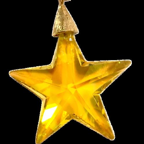 Pingente de estrela amarela Swarovski