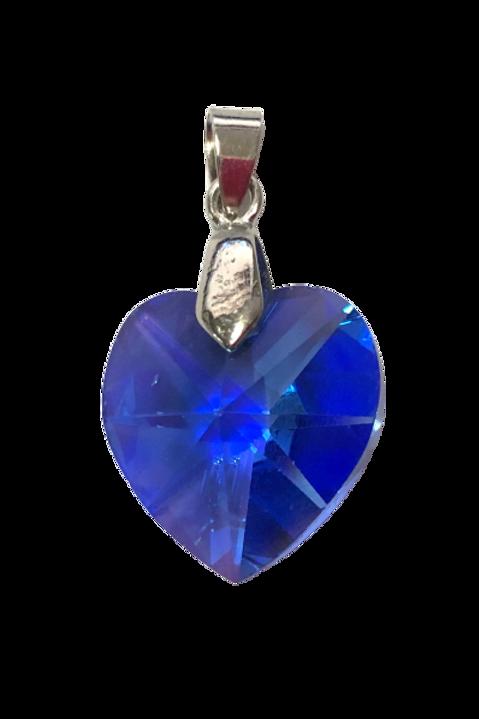 Pingente de coração azul Royal Swarovski