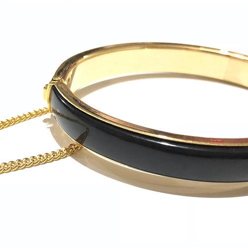 Bracelete esmaltado preto