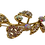 Thumbnail: Broche de ramo dourado com strass