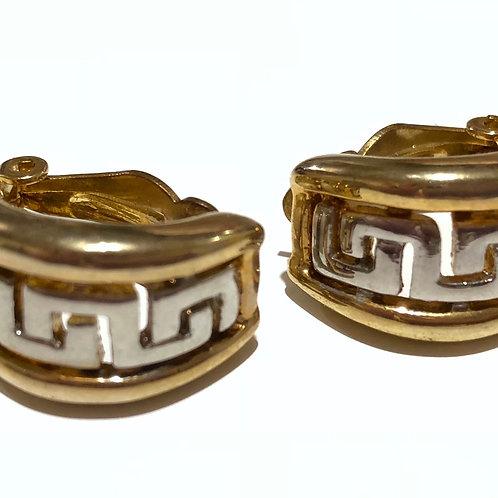Brinco de pressão prata e dourado