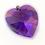 Thumbnail: Pingente coração roxo Swarovski
