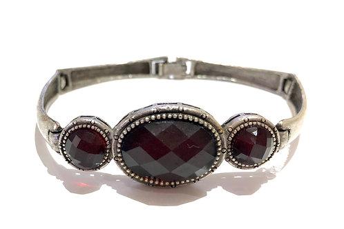 Bracelete prata com cristais