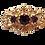 Thumbnail: Broche dourado com strass roxo