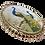 Thumbnail: Pingente prateado de pavão