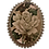 Thumbnail: Pingente prateado de flores