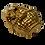 Thumbnail: Broche de cachorro dourado