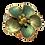 Thumbnail: Broche / passador de lenço de flor verde
