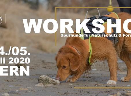 Artenspürhunde Workshop: 04./05. Juli 2020 in Bern!