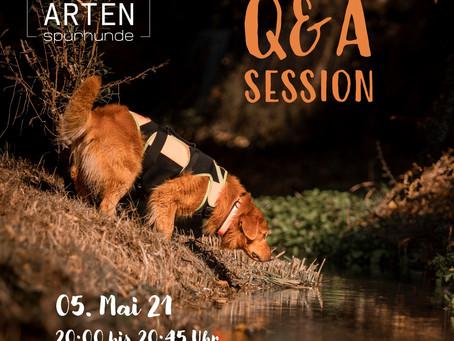 Q&A-Session mit dem Team von Artenspürhunde Schweiz