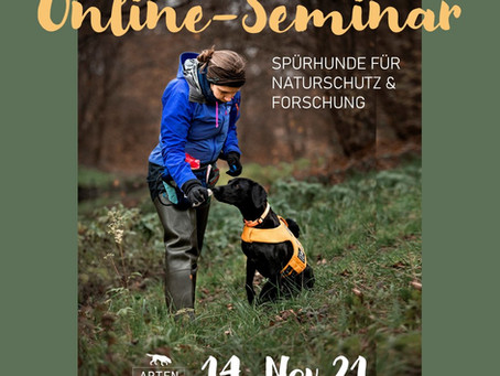 Neue Termine für Artenspürhunde-Interessierte!