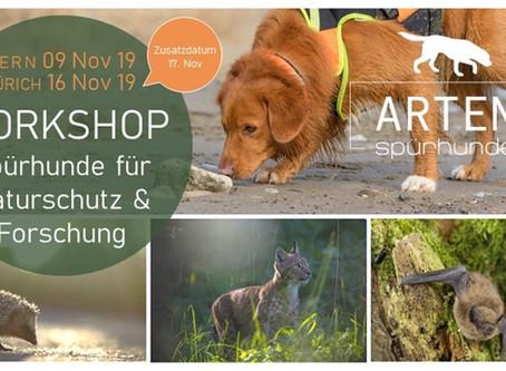 Artenspürhunde Workshops 2019