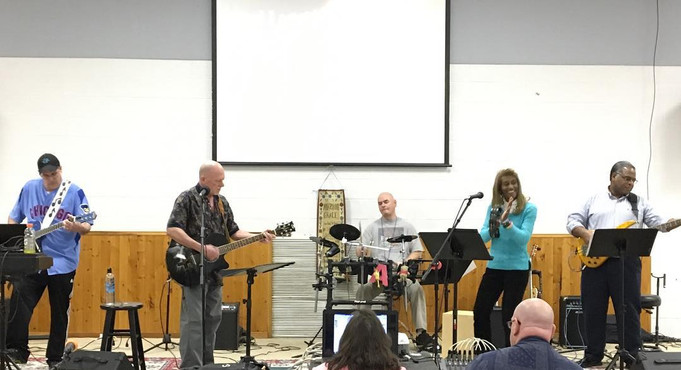 Our Praise team plays a variety of music in worship to our Lord