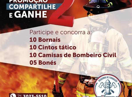 Concorra a 10 Bornais, 10 Cintos, 10 Camisas e 05 Bonés de Bombeiro Civil