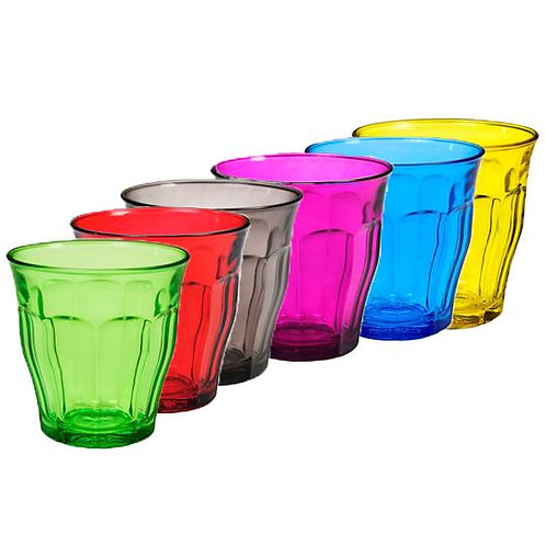 Duralex Picardie Assorted Colors Tumbler, Set of 6
