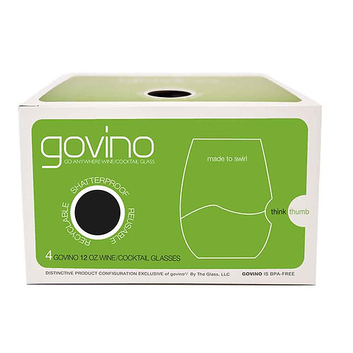 GoVino White Wine Glass 12oz. Set of 4