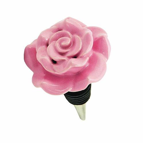 Twine Ceramic Rose Bottle Stopper