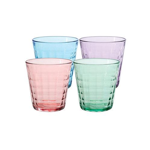 Duralex Prisme Tumbler Assorted Colors 27.5cl, Set of 4