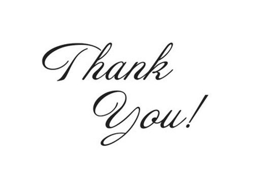 Thank you! - Note Card