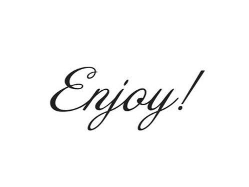 Enjoy! - Note Card