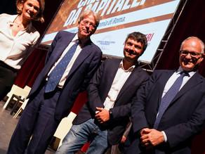 Con Paolo Gentiloni, Roberto Gualtieri e Lorenza Bonaccorsi