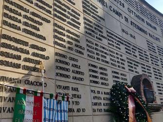 A ricordo dei 2728 cittadini romani eliminati nei campi di sterminio nazisti, oggi e sempre.