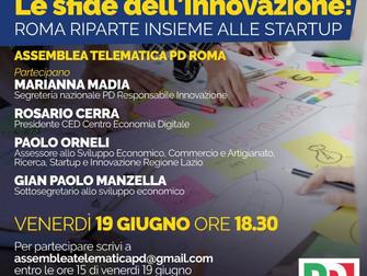 Oltre COVID 19 le sfide dell'innovazione: ROMA riparte insieme alle STARTUP