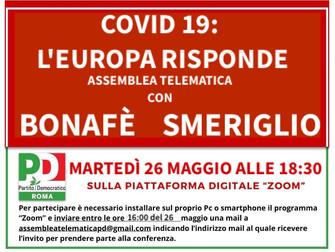 COVID 19: l'Europa risponde assemblea telematica con Simona Bonafè e Massimiliano Smeriglio