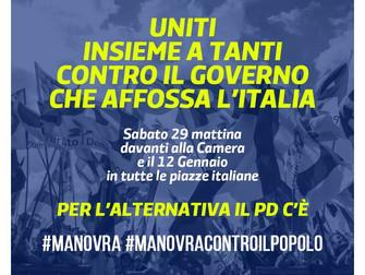 Avanti tutti uniti per difendere gli italiani dalla manovra contro il Popolo!