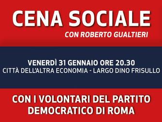Insieme a Roberto Gualtieri cena sociale con i volontari del Partito Democratico di Roma!