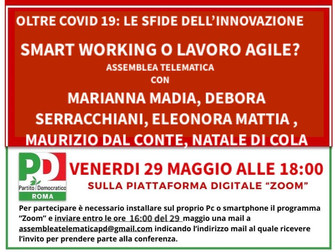 Oltre COVID 19: le sfide dell'innovazione. Smart working o lavoro agile?