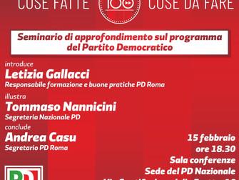 """""""100 cose fatte e da fare per l'Italia"""" incontro di formAZIONE con Tommaso Nannicini"""