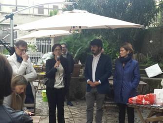 In Municipio XIII, con Lorenza, Federica e Sergio