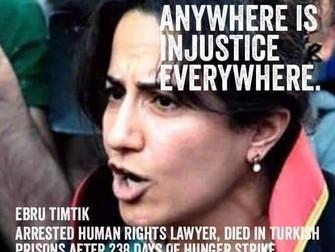Morte Ebru Timtik ferita al cuore dei diritti, pieno sostegno alla battaglia degli avvocati turchi